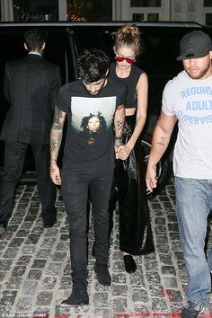 In the public eye: Gigi's relationship with Zayn courts plenty of media…