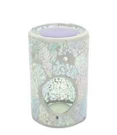 Iridescent Pilar Crackle Warmer Front by Heart & Home