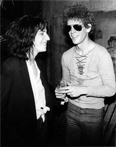 Patti Smith and Lou Reed, NYC 1976.