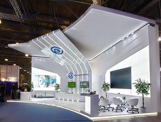 GlobalElektroService booth on Behance Trade Show Design, Pop Design, Display Design, Stage Design, Design Ideas, Exhibition Stall, Exhibition Booth Design, Exhibition Display, Exhibit Design