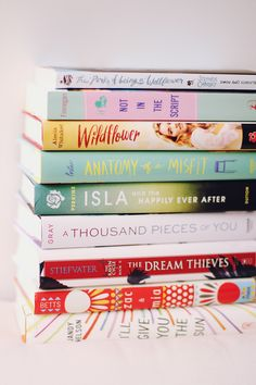 "staybookish: "" Half of my awesome stack of newly acquired books! Check out the rest at Stay Bookish! """