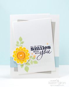 Handmade card by Karen Giron using Dream Big and Better Together from Verve.  #vervestamps