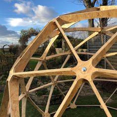 Geodesic Dome V2 3/4 with door - fruit cage, arbour, garden room, chicken run | eBay