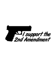 I support the 2nd Amendment decal