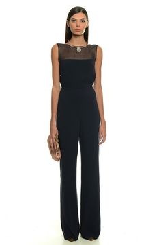 Tuta a palazzo elegante Formal Pants, Business Outfits, Pants Outfit, Beautiful Gowns, Fashion Outfits, Womens Fashion, What To Wear, Dress Up, Fashion Looks