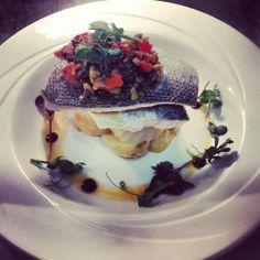 Sea Bass with Elveden New Potatoes