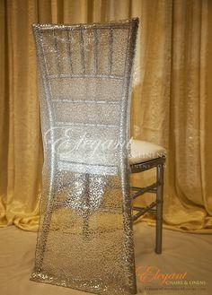 Chiavari Chair Cover Silver Sequin