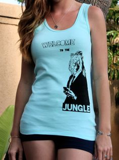 Welcome to the Jungle Hipster Lion // Lion in Business Suit Screenprint Graphic // Ladies Tank Top by SargentIllustration, $30.00