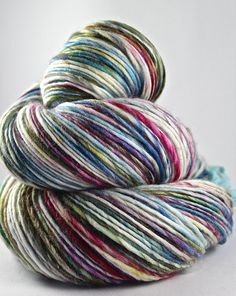 Handspun Yarn Gently Thick and Thin DK Single Superwash Merino and Nylon 'Florida'