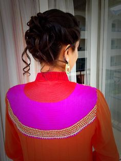 Indian bride's bridal reception hairstyle by Swank Studio. Find us at https://www.facebook.com/SwankStudioBangalore