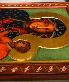 Matka Boska Częstochowska - kopia ikony - Pracownia Temper Madonna Art, Blessed Virgin Mary, Tempera, Our Lady, Painting, Polish, Vitreous Enamel, Painting Art, Paintings