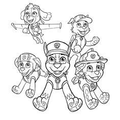 Ausmalbilder Paw Patrol Ausmalbilder Kindergeburtstag