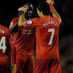 Joy for Sakho and Suarez #LFC #thekop