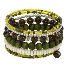 Olive Seeds of Life Spiral Bracelet Handmade and Fair Trade Beaded Bracelet Patterns, Jewelry Patterns, Beaded Bracelets, Bracelet Display, Bracelet Set, Handmade Bracelets, Handcrafted Jewelry, Olive Seeds, Silver Bracelets For Women