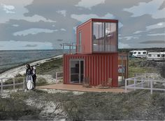 2 20 Container home stacked