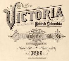 Vintage Typography - Victoria British Columbia Sanborn Map Title Page Vintage Labels, Vintage Ephemera, Vintage Ads, Vintage Advertisements, Vintage Designs, Vintage Packaging, Vintage Logos, Retro Logos, Vintage Graphic
