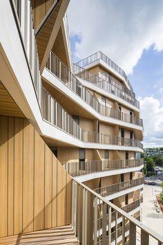 Boulogne B4A – Collective Housing in Boulogne Billancourt by Brenac & Gonzalez http://www.archello.com/en/project/boulogne-b4a-%E2%80%93-collective-housing-boulogne-billancourt