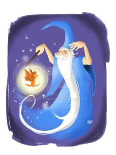 "Wart Takes Flight by Rag3Hat.deviantart.com on @DeviantArt - Wart/Arthur (in bird form) and Merlin from ""The Sword in the Stone"""