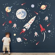 I've just found Space Rockets Fabric Wall Sticker. To infinity and beyond! Create an amazing space scene with our Space Rocket wall stickers. Boys Space Bedroom, Boy Room, Kids Room, Kid Bedrooms, Kids Wall Decals, Nursery Wall Stickers, Childrens Wall Stickers, Wall Stickers Space, Space Rocket
