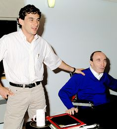 Ayrton Senna and Frank Williams
