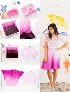 Skirt Dip Dye Ombre