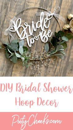 Diy Your Wedding, Do It Yourself Wedding, Wedding Ideas, Floral Wedding, Wedding Bouquets, Wedding Flowers, Bridal Shower Decorations, Diy Wedding Decorations, Floral Hoops