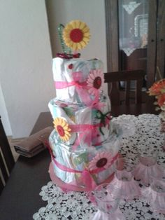 Diaper Cake for my niece