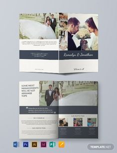 Instantly Download Free Creative Wedding Bifold Brochure Template, Sample & Example in Microsoft Word (DOC), Adobe Photoshop (PSD), Adobe InDesign (INDD & IDML), Apple Pages, Microsoft Publisher, Adobe Illustrator (AI) Format. Available in (US) 8.5x11 inches + Bleed. Quickly Customize. Easily Editable & Printable.