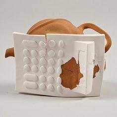 Ran Out ceramics by Shlomit Bauman Run Out, Ceramic Materials, Household, Clay, Ceramics, Tableware, Magazine, Clays, Ceramica