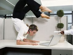 Yoga at work...it isn't for everyone!