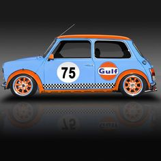 Classic Racing Legends Series No2 🚗🏁 Mini in Gulf livery. ________________________________________________________ The Marlboro Mini seemed…
