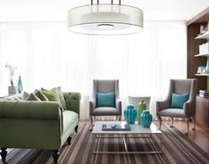 Image result for turquoise couch green room