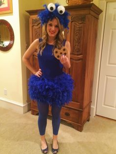 DIY Cookie Monster Costume & 30 Halloween Costumes That Will Win the Contest Every Time | spirit ...