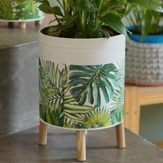 Tin Can Crafts, Diy And Crafts, Arts And Crafts, Painted Tin Cans, Painted Pots, Coffee Jar Crafts, Aluminum Crafts, Diy Planters, Chalkboard Art