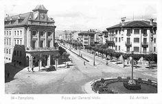 1945-PLAZA DE MERINDADES  (PLAZA GENERAL MOLA)-AVENIDA  FRANCO