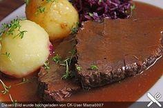 Alohas Glühweinbraten mit Zwetschgenmus, ein sehr schönes Rezept aus der Kategorie Schmoren. Bewertungen: 20. Durchschnitt: Ø 4,5.
