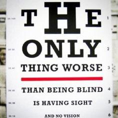 Blog over blind en zien. Of zien en inzicht. over visie en visioen.