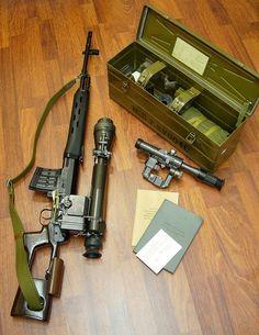 SVD Dragunov sniper rifle (Russia) - http://www.rgrips.com/en/article/71-beretta-a304