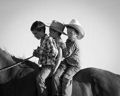 Children on a horse.