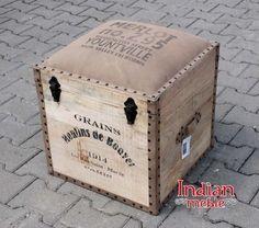 ✫✫✫ NOWOŚĆ! ✫✫✫ 2w1: loftowe kuferem i pufa: http://bit.ly/29qLYnG :) Pomieści wiele Twoich przedmiotów. :) #kufer, #pufa
