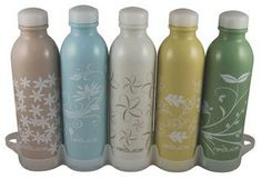 Reusable water bottles that are BPA free & dishwasher safe!  This is great to have filled and in the fridge!  Plus saves money from buying bottles of water!  Love!