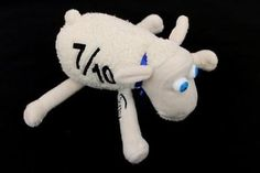 "Serta Sheep 7/10 White Sheep w/ Blue Eyes Plush Doll 6"""
