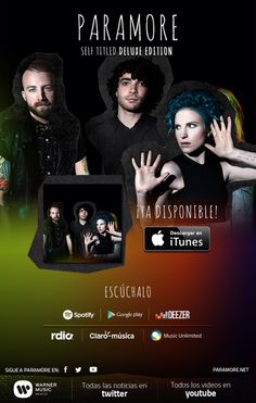 ¡Ya está disponible Paramore Self Titled Deluxe Edition aquí! @paramore