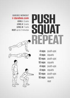 Squat workout 551128073140523656 - Visual Workouts Source by Push Up Workout, Gym Workout Tips, Squat Workout, Workout Memes, Boxing Workout, Workout Challange, Workout Schedule, Home Workout Men, At Home Workouts
