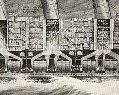 Engineering Art: Cross Sections of the HMS Olympic and Mauretania Rms Mauretania, Cross Section, Science Books, Steam Engine, Titanic, Olympics, City Photo, Engineering, Deck