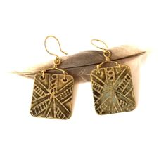 Tribal brass etched earrings // Urban Eclectic Jewelry // Handmade in Tamarindo Costa Rica Tamarindo, My Boutique, Costa Rica, Jewelry Accessories, Handmade Jewelry, Brass, Urban, Drop Earrings, Copper