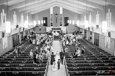 Wedding ceremony photograph, great perspective