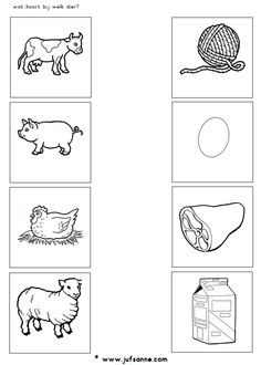 Crafts,Actvities and Worksheets for Preschool,Toddler and Kindergarten.Lots of worksheets and coloring pages. Farm Animals Preschool, Farm Animal Crafts, Animal Crafts For Kids, Farm Animals For Kids, Kids Crafts, Farm Activities, Animal Activities, Animal Worksheets, Kindergarten Worksheets