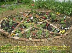 Pentacle garden for wylde crafting.