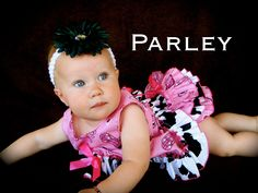 Beautiful Parley Ray Western Pink Bandana Cowgirl Cow Print Pinafore Dress with Ruffled Baby Bloomers/ Diaper Cover Pageants Photo Props. $60.00, via Etsy.